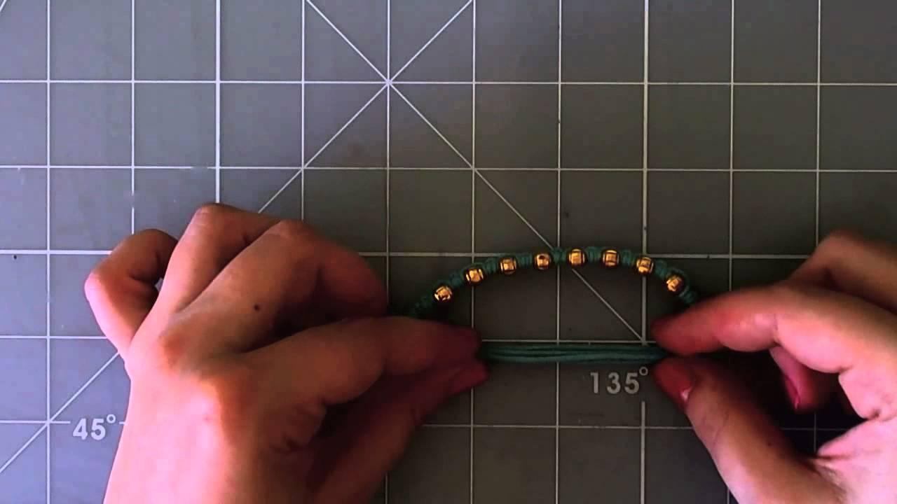 DIY Double Simple knot bracelet - Pulsera nudo simple doble
