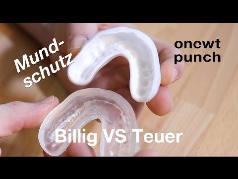 240€ oder 6€ Mundschutz,Zahnschutz Test und Vergleich bei One Two Punch.