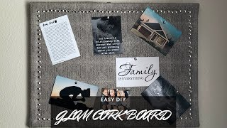 Easy Glam DIY Cork Board | DIY Vision Board | Deja Marie