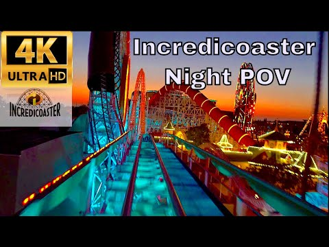 Incredicoaster Nighttime 4K POV | Great Sound | Opening Day Pixar Pier | Disneyland Pixar Fest