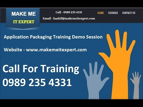 Application Packaging Training - YouTube