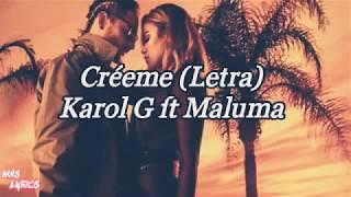 Karol G Ft Maluma Créeme (Letra)