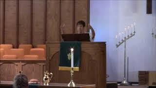 """""""Broken-Hearted Anger""""; Scripture Reading: Mark 3:1-6; Rev. Wendy Warner, Sunday July 14,"""