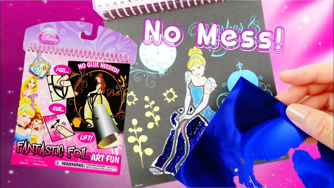 Disney Princess Fantastic Foil Metallic Coloring Art Kit Activity Book