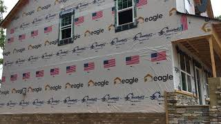 Eagle Construction Logos on BreatheEZ™ House Wrap
