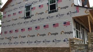 Eagle Construction Logos on BreatheEZ™ House Wrap