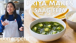 Priya Makes Saag Feta   From the Test Kitchen   Bon Appétit