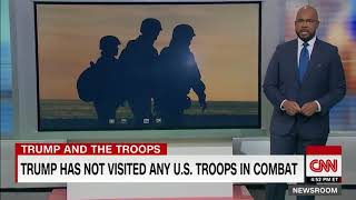 President Trump has not visited any US troops in combat since taking office CNN