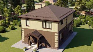 Проект дома 150-D, Площадь дома: 150 м2, Размер дома:  11,8x9,3 м