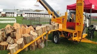 10 Amazing Automatic Firewood Processing Machine, Homemade Modern Wood Cutting Chainsaw Machines