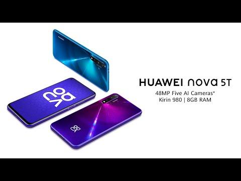 Telefon HUAWEI Nova 5T, 128GB, 6GB RAM, Dual SIM, Crush Blue
