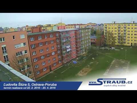 Časosběrné video z výstavby nových lodžií  na ul. Lúdovita Štúra 5 v Ostravě – Porubě