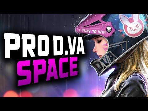 Pro D.va Gameplay – Space! 42 ELIMS! [ OVERWATCH SEASON 14 TOP 500 ]