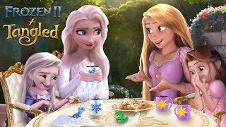 Frozen 2 & Tangled: Elsa And Rapunzel In The Future! Their Children Play Together💙☀️ | Alice Edit!
