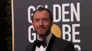 Jude Law Golden Globe Awards Fashion Arrivals (2018)