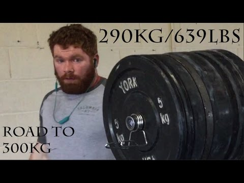 Eoin Murphy Squats 290kg/639lbs - Road to 300kg Part One