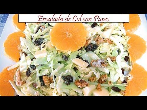 Ensalada de Col con Pasas | Receta de Cocina en Familia