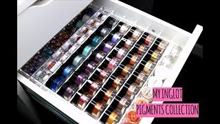 MY INGLOT PIGMENTS COLLECTION | 30+ SHADES SWATCHED!