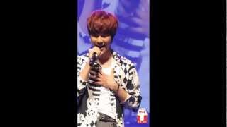 130316 Singapore FanMeeting BOYFRIEND JeongMin solo - 잘 지내니(My Dear) FULL