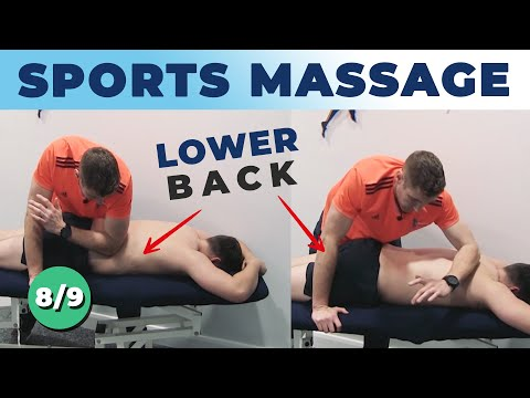 Sports Massage Tutorial - Working On The Lower Back - Soft Tissue Mobilization Techniques