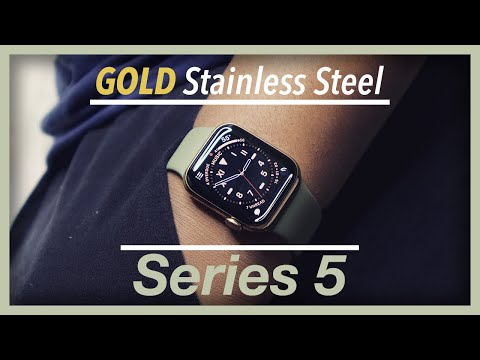 GOLD Stainless Steel Apple Watch Series 5 Unboxing!! (and some YouTuber suggestions!) | ijono