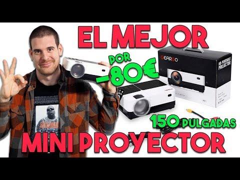 EL MEJOR PROYECTOR PORTÁTIL POR MENOS DE 80€: GEARGO H2 😳 ANÁLISIS A FONDO 🎥 TEST GAMING + VIDEO