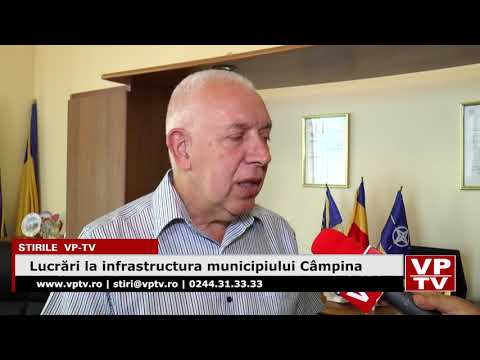 Lucrări la infrastructura municipiului Câmpina