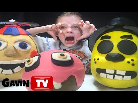 FNAF Triple 3D PlayDoh Eggs Balloon Boy|Golden Freddy|Cupcake