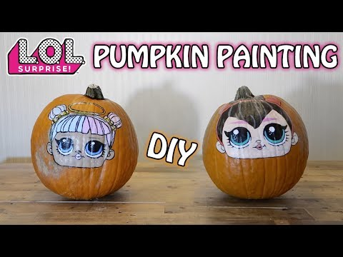 DIY L.O.L. SURPRISE HALLOWEEN PUMPKIN PAINTING! SUGAR & SPICE!