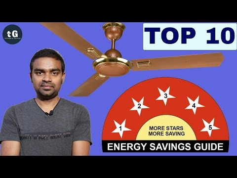 Top 10 Ceiling Fans in India by electricity consumption and size in 2017 | TOP 10 Fan in India
