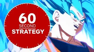 DRAGON BALL FighterZ - How to Play SSGSS (Super Saiyan Blue) Goku in 60 Seconds
