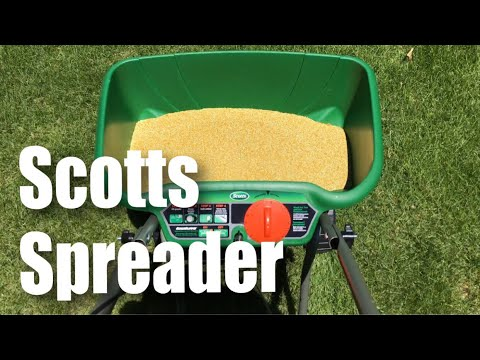Scotts Turf Builder EdgeGuard Deluxe DLX Broadcast Lawn (for 15,000 sq ft) Spreader review