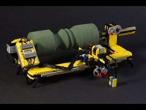 Watch This Lego Lathe Carve Any Contour Sketched On Paper