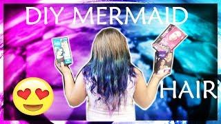 DIY MERMAID HAIR - OMBRE HAIR TUTORIAL - HOW TO DYE YOUR HAIR COLORS WITH SPLAT