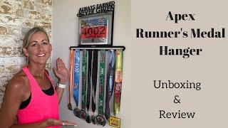 Apex Runners Medal Hanger | Running Girl Medal Display | Running Bibs