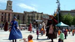 preview picture of video 'Ball de Gegants III Trobada Gegantera de Súria 17 d'abril 2011'