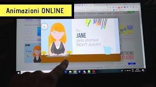 CREARE ANIMAZIONI 2D online -  Con Powtoon