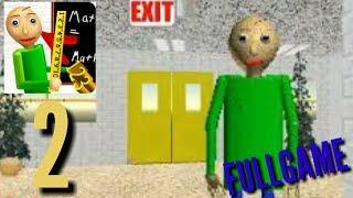 Baldi basic Gameplay WALKTHOUGHT PART 2