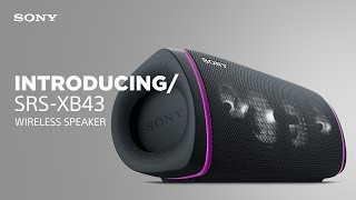 YouTube Video E4qcPBtTCdg for Product Sony SRS-XB43 EXTRA BASS Wireless Speakers by Company Sony Electronics in Industry Speakers