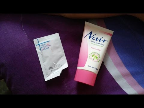 Probando crema para depilar Pilaten vs Nair