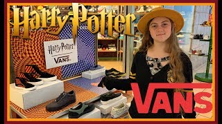 New Harry Potter Vans! Sneaker Collection! Shoe And Clothing Apparel Line Wear Your House! Magical