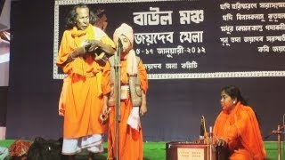 A child artiste performing Baul Music