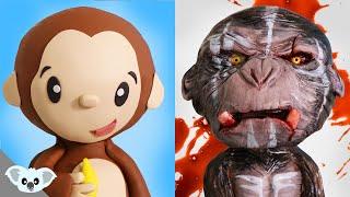 Cute And Scary Monkey Cake    2 Faced Animal Cake Ideas   Amazing Cakes   Koalipops