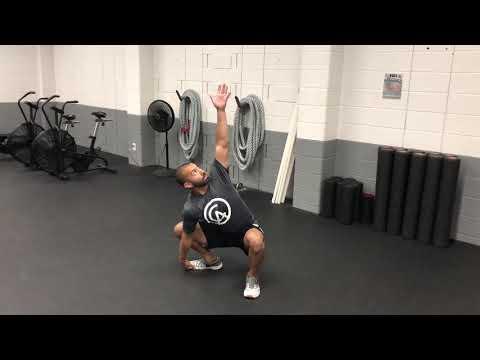 BW - Sumo Squat w/rotational reach