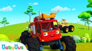 Make Friends with Monster Cars | Hello Song | Be a Polite Kid | BabyBus
