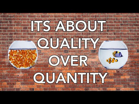 , title : 'Its about Quality over Quantity