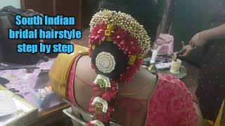 South Indian Bridal Hairstyle/wedding Hairstyle Step By Step/Indian Bridal Hairstyle/easy Hairstyle