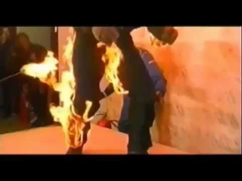Unbelievable Stunt Man Jumps From a Building While on Fire