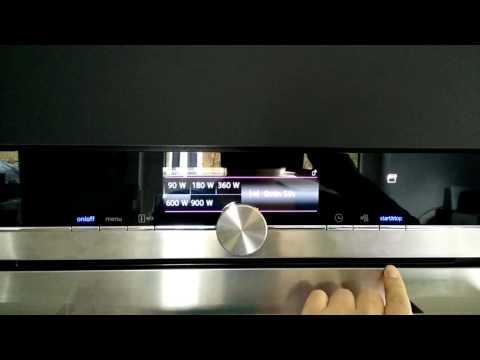 Mikrowellen Bedienung Siemens iq700