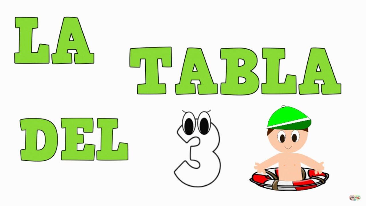 La Tabla del 3 -  Tablas de Multiplicar - Vídeos educativos para Niñosy Bebés